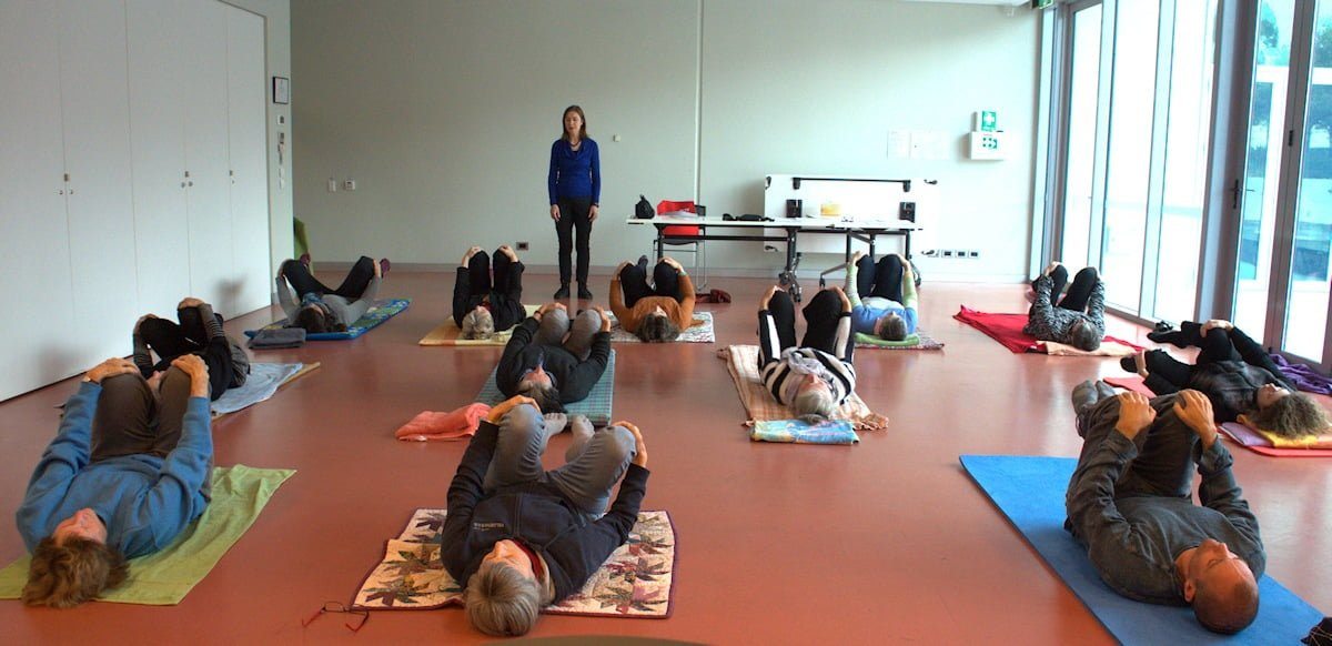 Feldenkrais practitioner giving a class