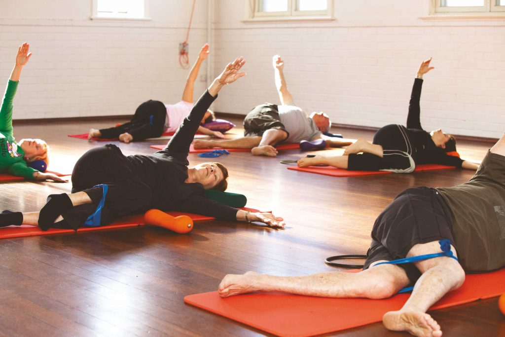Pilates floor class at The Chapel Space by Free2move Physiotherapy
